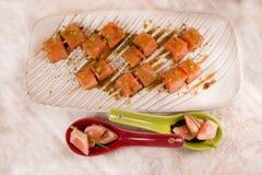 Salmon appetizer Stock Image