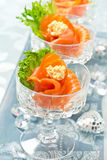 Salmon Appetizers image stock