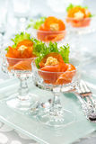Salmon Appetizers photographie stock