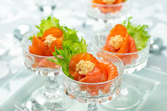 Salmon Appetizers images stock