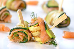 Salmon appetizers Royalty Free Stock Photography