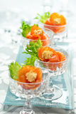 Salmon appetizers Royalty Free Stock Images