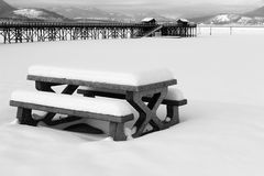 Salmon Arm snow Stock Photo