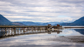 Salmon Arm wharf Stock Photos