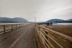 Salmon Arm Wharf imagem de stock royalty free
