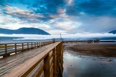 Salmon Arm Wharf no Columbia Britânica, Canadá Imagem de Stock
