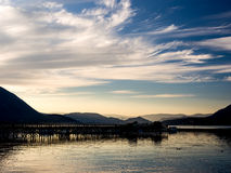Salmon Arm Wharf Royalty Free Stock Photos