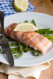 Salmon with asparagus Royalty Free Stock Photography
