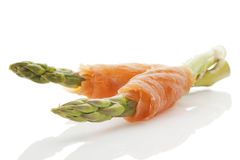 Salmon and asparagus. Royalty Free Stock Image