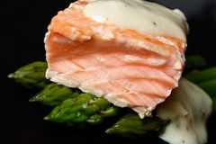 Salmon and asparagus Stock Image