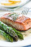 Salmon with Asparagus Royalty Free Stock Photo