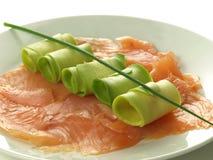 Salmon with avocado Stock Photo