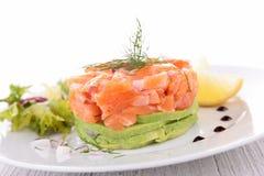 Salmon and avocado, appetizer Stock Photos