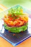 Salmon and avocado salad Royalty Free Stock Photo