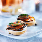 Salmon bagel Royalty Free Stock Image
