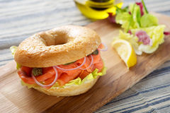 Salmon Bagel Sandwich royalty-vrije stock fotografie