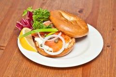 Salmon Bagel Sandwich stock fotografie