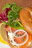 Salmon Bagel Sandwich stock foto's