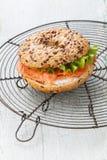 Salmon Bagel Sandwich Royaltyfri Foto