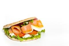 Salmon Bagel Sandwich Royalty Free Stock Photography