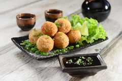 Salmon balls royalty free stock photography