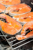 Salmon barbecue Royalty Free Stock Photography