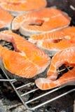 Salmon barbecue Stock Image