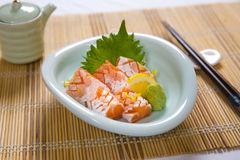 Salmon Belly Sashimi Photos libres de droits