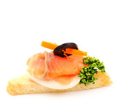 Salmon Blinis Canaps Royalty Free Stock Photo