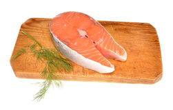 Salmon on a board Stock Images