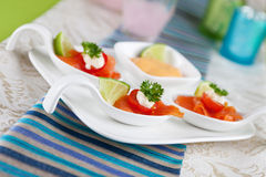 Salmon bouche Royalty Free Stock Images