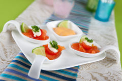 Salmon bouche Royalty Free Stock Photo