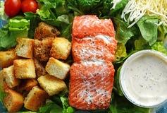 Salmon box lunch Stock Photo