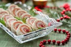 Salmon bread rolls appetizers Stock Image