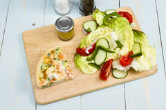 Salmon and broccoli quiche Royalty Free Stock Photography