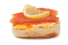 Salmon bun Royalty Free Stock Photography