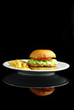 Salmon burger Royalty Free Stock Photography