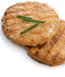 Salmon Burgers Stock Images