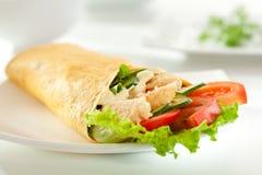 Salmon Burrito Lizenzfreies Stockbild