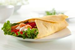 Salmon Burrito Stock Image