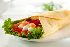 Salmon Burrito Royalty Free Stock Photos