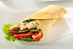 Salmon Burrito Royalty Free Stock Images