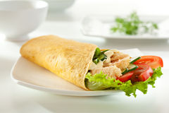 Salmon Burrito Stock Photo