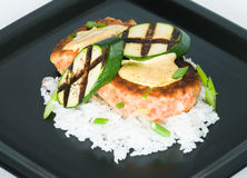 Salmon Cakes stock image