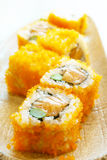Salmon California roll sushi Stock Photos