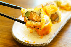 Salmon California roll sushi Royalty Free Stock Images