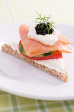 Salmon Canape Royalty Free Stock Photos