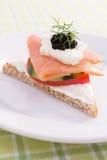 Salmon Canape royalty free stock photos