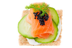 Free Salmon Canape Stock Images - 14192564