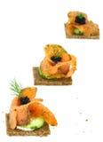 Salmon canape Stock Image